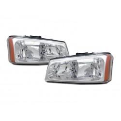 Diamond Headlamps 2003 - 2006 Chevy Silverado /Avalanche No Body Cladding