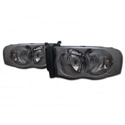 Smoke Diamond Headlamps 2002 - 2008 Dodge Ram 1500 /2500 Pick Up