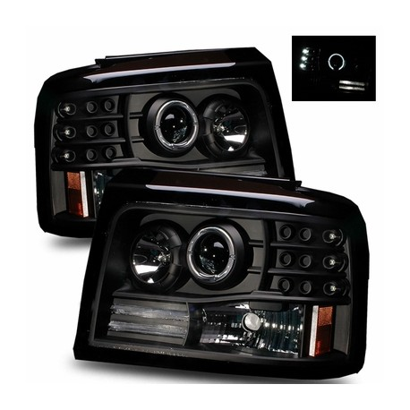 1992-1996 Ford Bronco F-150 F-250 LED Headlights Black