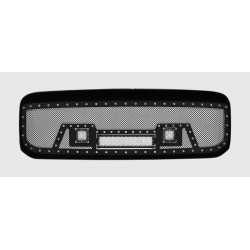 "1999-2004 FORD F-250 F-350 SUPER DUTY w/ 12""LED and 2 2""LEDS Black w/ Rivets Shell"