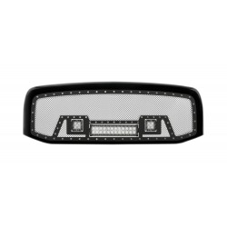 "2006-2008 DODGE RAM 1500/2500 W 12"" LED Light Bar and 2 2"" Lights w/ Rivets"