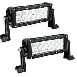 "7.5"" 36 Watts Double Row Cree Led White Light Bar 12 Leds 2500 Lumens Combo Spot/Flood 12V 6000K Color"