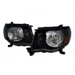 Diamond Black Clear Headlamps  2005-10 Toyota Tacoma