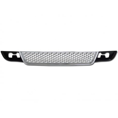 Chrome Lower Bumper Grille Round Hole 2007-2012 GMC  Yukon Denali  ABS