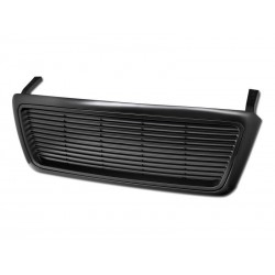 Black ABS  Billet Style 2004-2008 Ford F150 FX4 XLT Lariat Horizontal Replacement Grille Shell