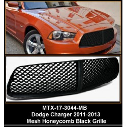 Black Mesh 2011 - 2013 Dodge Charger Replacement Shell ABS