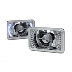 Led White 4X6 Rectangular Universal Conversion Headlamps Pair