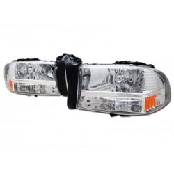 1 pc  Headlamps Dodge Dakota /Durango 1997 - 2004 Chrome/Amber