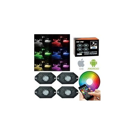 Led Rocker Lights multicolor Bluetooth