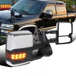 New 2015 style Chevy Silverado 1999-2002 Towing Mirrors Power heated with led turn signals and led white reverse lights