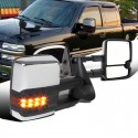New 2015 style Chevy Silverado 1999-2002 chrome Towing Mirrors Power heated with led turn signals and led white reverse lights