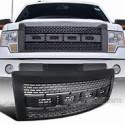 Ford F 150 2009-2014 Black Raptor Style Glossy Black Grille