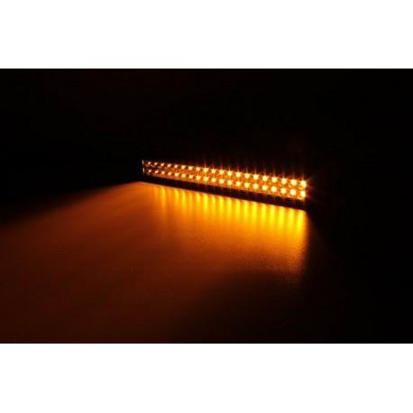 "led 22.5"" light bar 120 watts amber white w remote control"