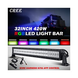 "Led 31.5"" RGB Bluetooth Light Bar 180 Watts Multiclors"