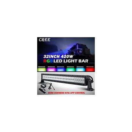 "Led 31.5"" RGB Bluetooth Light Bar 180 Watts Multiclors"