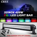 "Led 32"" RGB Bluetooth Light Bar 420 Watts Multicolors"