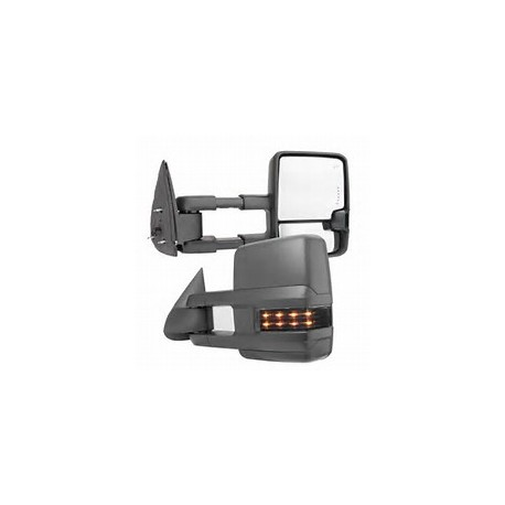 2015 Style chevy silverado 2003-2006 power heated towing mirrors with leds smoke turn signals and white reverse lights