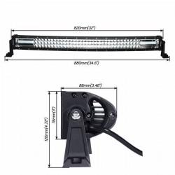 "New Design Triple Row Curve Radius 32"" Led Light Bars 260 watts"