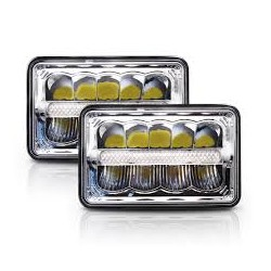 Universal 4x6 Led DRL Headlights Pair