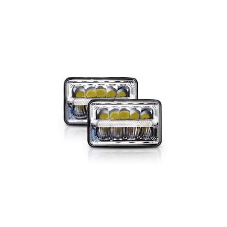 Universal 4x6 Led DRL Headlights Pair