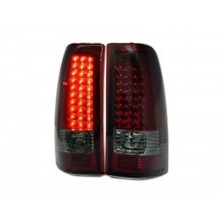 Led Red Smoke Taillights 1999-2006 Chevy Silverado 1500 2500 Gmc Sierra