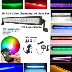 Led Lightbar 50' 288 Watts RGB Multicolor Blue Tooth Anroid I phone