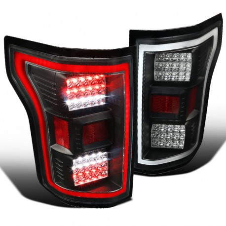 2015-2017 Ford F 150 Black led taillights