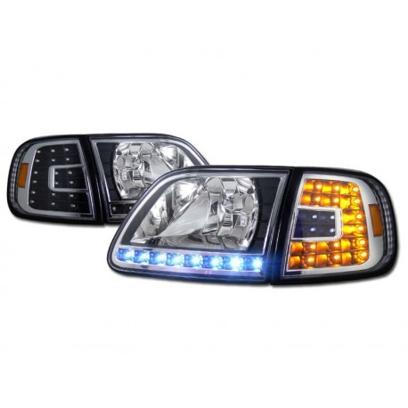 Ford F 150 1997 2003 Expedition 4pc Combo Headlights With Led