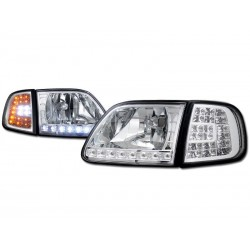 Ford F 150 1997-2003 Expedition 4pc Combo smoke Headlights with Led