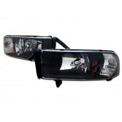 Dodge Ram 1994-2001 Black Housing Headlights 1pc set