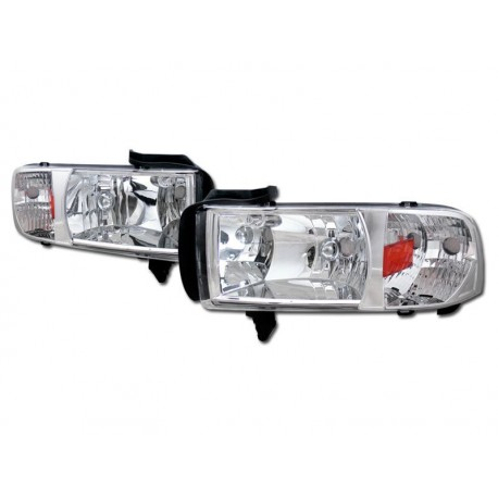 Dodge Ram 1994-2001 chrome Housing Headlights 1pc set