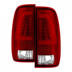 1997-2003 ford f150 led c bar halo red 99-07 f250/350/450 taillights