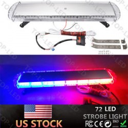 emergency led cobb light bar red blue with switch