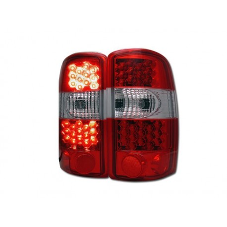 Led Taillights Red Clear 2000 2006 Chevy Tahoe Suburban