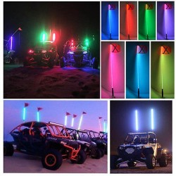 """LED Whip antenna RGB Multi Colors 49""""Remote Control"""