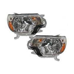 2012 2015 Toyota Tacoma OE style chrome amber headlights set