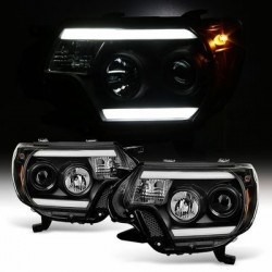 2014-2017 Toyota Tundra  Black c bar halo projector headlights