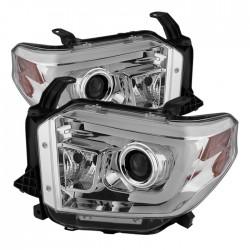 2014-2017 Toyota Tundra  chrome c bar halo projector headlights
