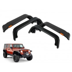 2007-2017 Jeep Wrangler JK Sahara  4pc fender flares with led