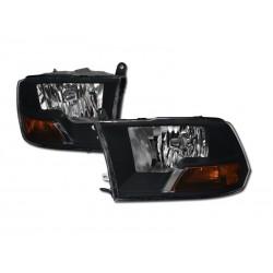 2009-2017 Dodge  Ram black amber Headlights 1500/2500