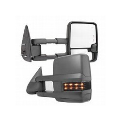 2015 Style Chevy Silverado 2007-2013 power heated towing mirrors with leds smoke turn signals and white reverse lights
