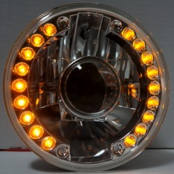 "Conversion headlights 7"" round projector with amber led side lights"