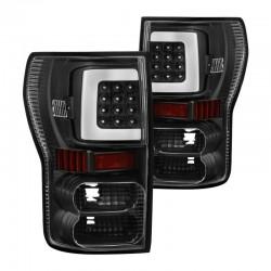 2007-2013 Toyota Tundra Black C Bar halo led taillights