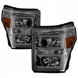 2011-2016 Ford F250/350/450 C bar halo projectors headlights