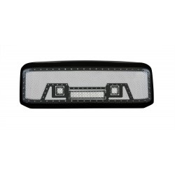 "2005-2007 FORD F-250 F-350 SUPER DUTY w/ 12"" LED and 2 2""LEDS Black w/ Rivets Shell"