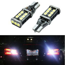 194 t-10 5 time strobe lights bulbs pair 6000k white