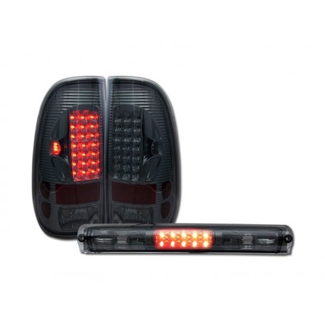 1997-2003 ford f150 led smoke  99-07 f250/350/450 taillights and third brake lights