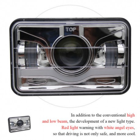4x6 drl projector headlights replacement h4 plug high low beam