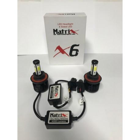 Led 4 sided Headlight bulbs 40 watts h8/h9/h11 6000k 4000 lumens