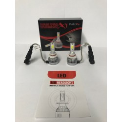 LED HEADLIGHT BULBS H-3 LOW BEAM 30/ WATTS 6000K COLOR 3000 LUMENS